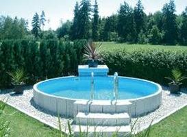 piscina fuori terra in metallo