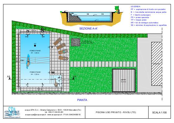 piscina interrata isoblok, forma beach-time, con  scala interna,idromassaggio, locale tecnico e sistema di elettrolisi del sale, progetto acqua-spa