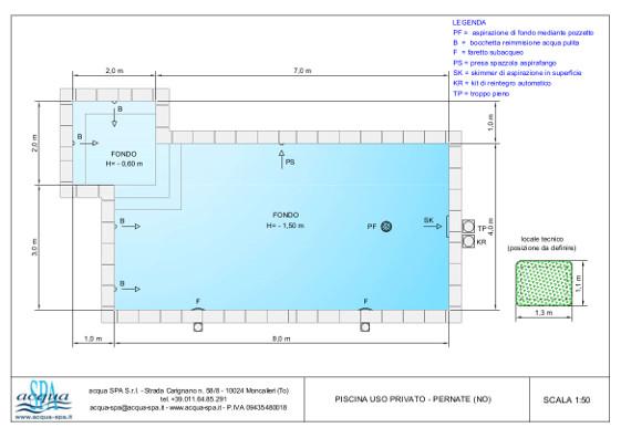 piscina interrata isoblok, forma caraibi, fondo piano, con idromassaggio ed area relax, progetto e realizzazione acqua-spa, piscina costruita a Pernate
