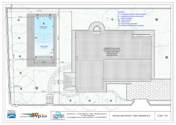 piscina interrata isoblok, forma classica, copertura tapparella sommersa a carabottino, costruita a Pino Torinese da acqua-spa