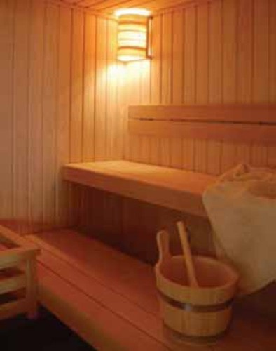sauna vista da interno